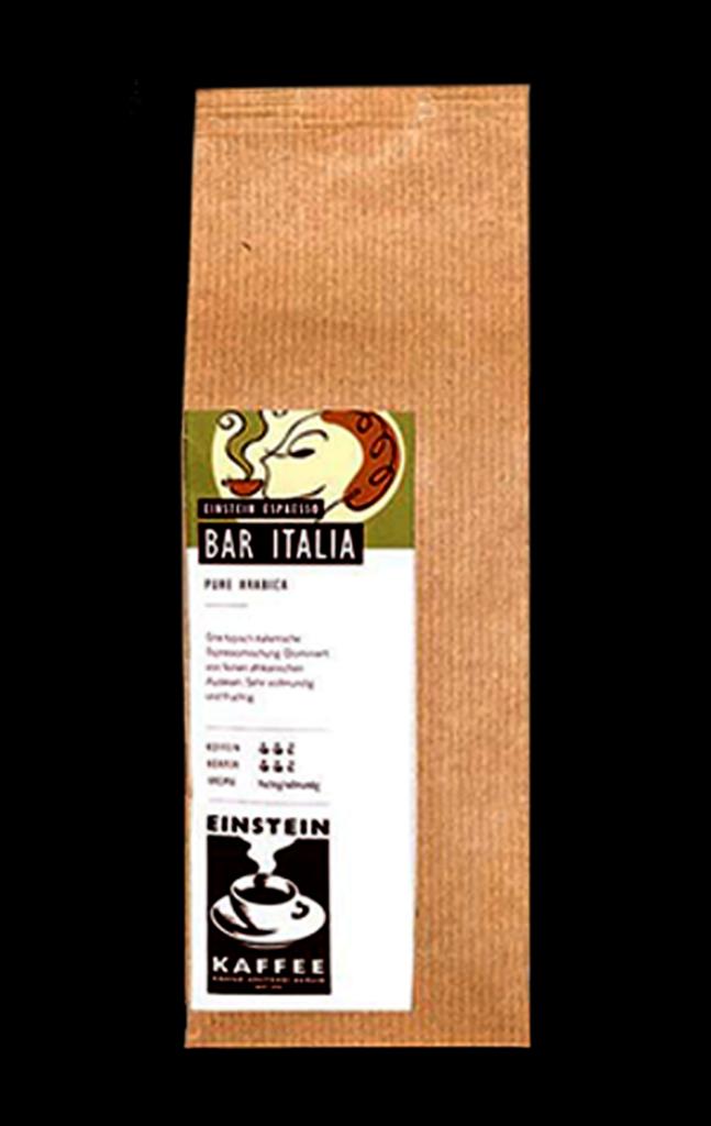 EINSTEIN KAFFEE italienischer Kaffee: Bar Italia Espresso