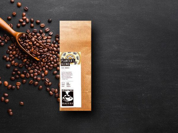 EINSTEIN premium Kaffee: Espresso Kaffeebohnen Planter's Blend
