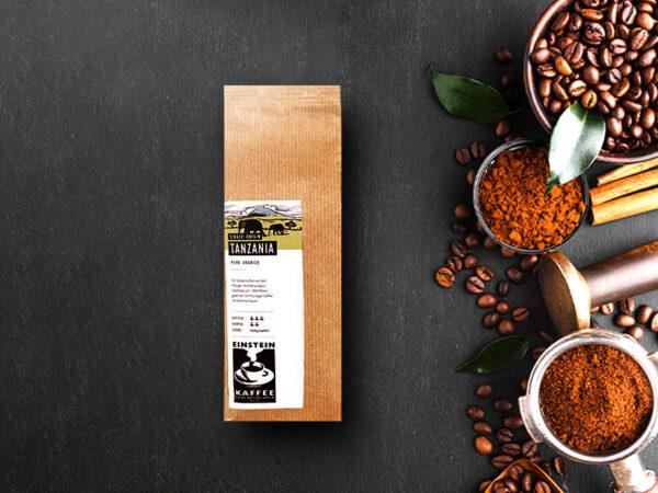 Koffeinreicher Kaffee: Tanzania Single Origin Kaffeebohnen