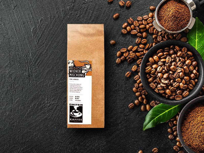 Klassischer Espresso Melange Wiener Mischung von EINSTEIN KAFFEE