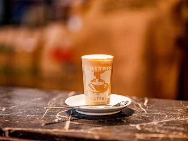 Einstein Kaffee Latteglas